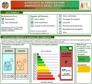 certificazione energetica a roma