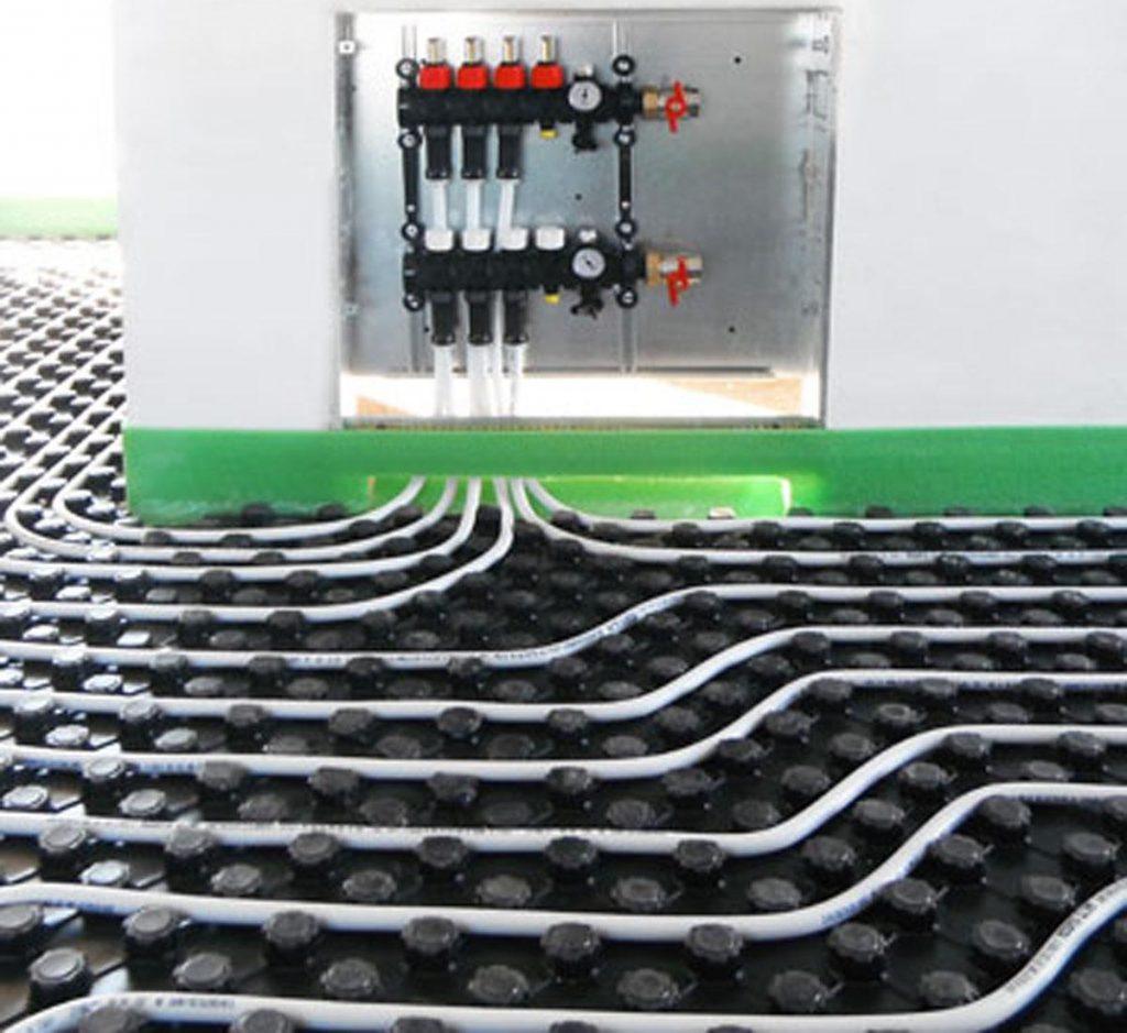 collettore impianto a pavimento